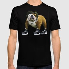 Flow Dog Black Mens Fitted Tee LARGE