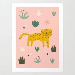 Leopard Art Print Art Print