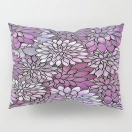 Stain Glass Floral Abstract - Purple-Lavender Pillow Sham