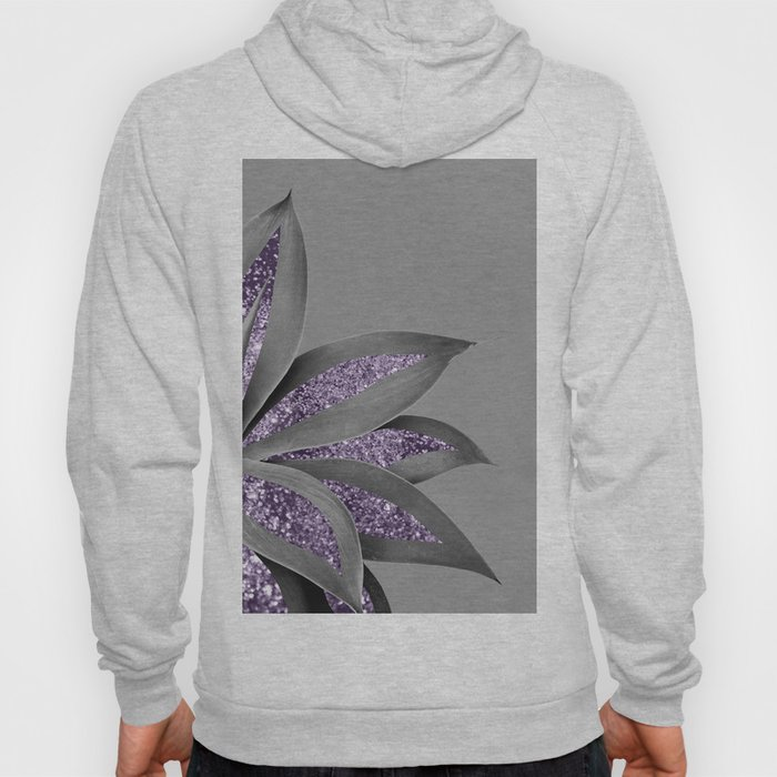 Agave Finesse Glitter Glam #4 #tropical #decor #art #society6 Hoody