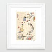 kandinsky Framed Art Prints featuring Chasing Kandinsky (2014) by Eli Dorman