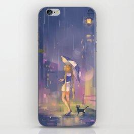 umbrella usagi iPhone Skin