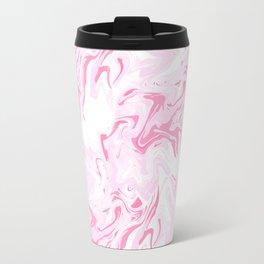 Pink Marbled Texture Travel Mug