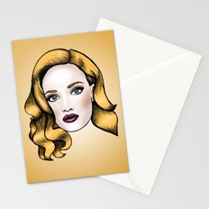 Blonde beauty Stationery Cards
