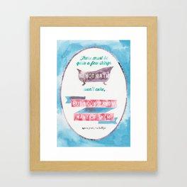 A HOT BATH//SYLVIA PLATH QUOTE Framed Art Print