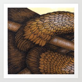 The Drumming Otter Part 2 Art Print