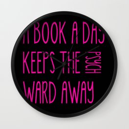 A Book A Day Wall Clock