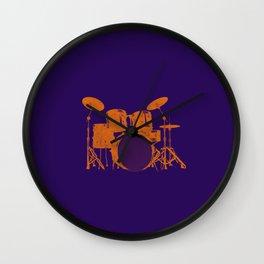Vintage Drummer Drums Distressed Wall Clock