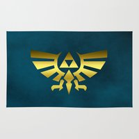 triforce Area & Throw Rugs featuring Regal Triforce by Rebekhaart