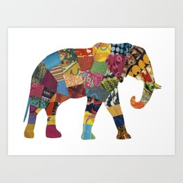 The Elephant. Art Print