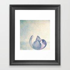 white tulip Framed Art Print