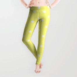 Butter Yellow Polka Dots Leggings