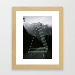 Rainy Road Trip. Framed Art Print