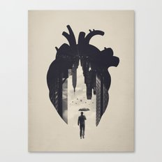 In the Heart of the City Canvas Print