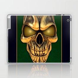 Skull with glowing golden eyes Laptop & iPad Skin