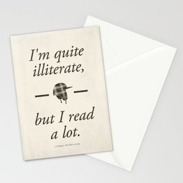 Salinger's The Catcher in the Rye - Literary quote art, bookish gift, modern home decor Stationery Cards