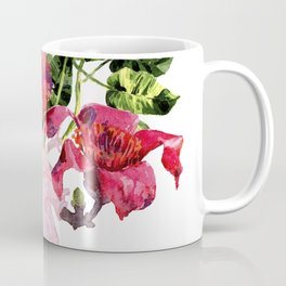 Human heart with flowers, plant and leaf, watercolor Coffee Mug