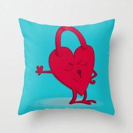 Closed hearrrrrt Throw Pillow