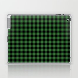 Classic Green Country Cottage Summer Buffalo Plaid Laptop & iPad Skin