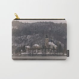 Bled Island Dusted With Snow Carry-All Pouch