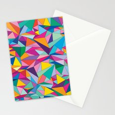 Triangles in color Stationery Cards