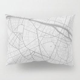 Paris - Minimal map Pillow Sham