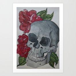 Death & Peony Art Print