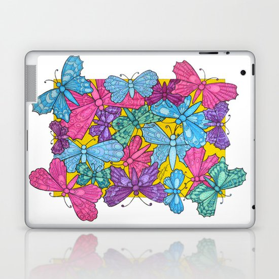 Boxed in Butterflies Laptop & iPad Skin