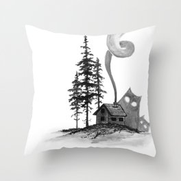 Better stay inside Throw Pillow