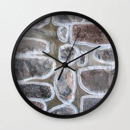 Stone wall colour 4 Wall Clock
