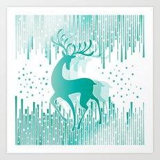 Dancing Deer Art Print