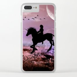 The unicorn with fairy Clear iPhone Case