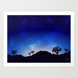 Joshua Tree at Night Art Print