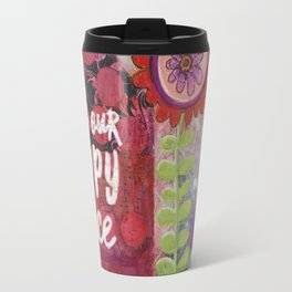 This is Our Happy Place Collage Travel Mug