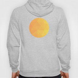 Abstract Geometric Gradient Pattern between Light Orange and Light Yellow Hoody