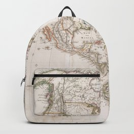 Vintage Map of North and South America (1843) Backpack