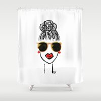 lucy Shower Curtains featuring Lucy, Lucy... by storylines
