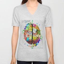 Human Brain Unisex V-Neck