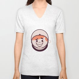 Retro Space Guy Unisex V-Neck