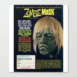 Zombie Mask Canvas Print