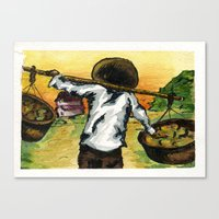 cuba Canvas Prints featuring Cuba by Christie Minnie