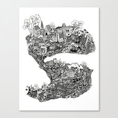 THE TOWN Canvas Print