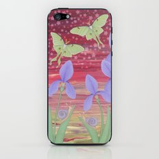 rosy aurora with luna moths, irises, and snails iPhone & iPod Skin