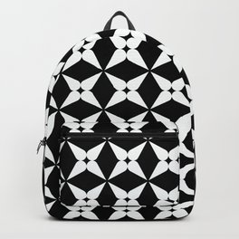 Geometric Pattern 247 (white crosses) Backpack