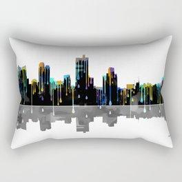 Fort Worth Skyline BW1 Rectangular Pillow