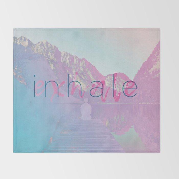 Inhale / Exhale Throw Blanket