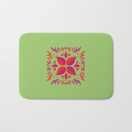 Beautiful illustration of a square with 3 colors Bath Mat