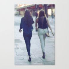 City Walking Canvas Print