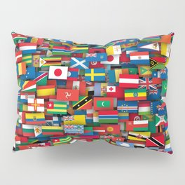 Flags of all countries of the world Pillow Sham