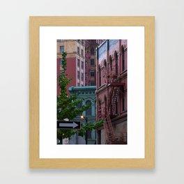 Intercity Color Framed Art Print
